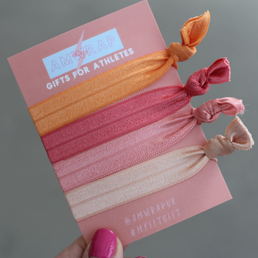 Hair Ties - Set of 4 (Peachy)