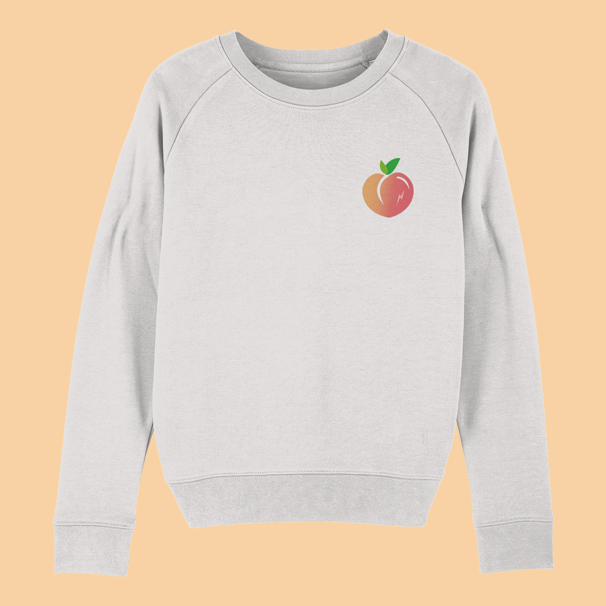 Peachy Embroidered Women's Sweatshirt 🍑