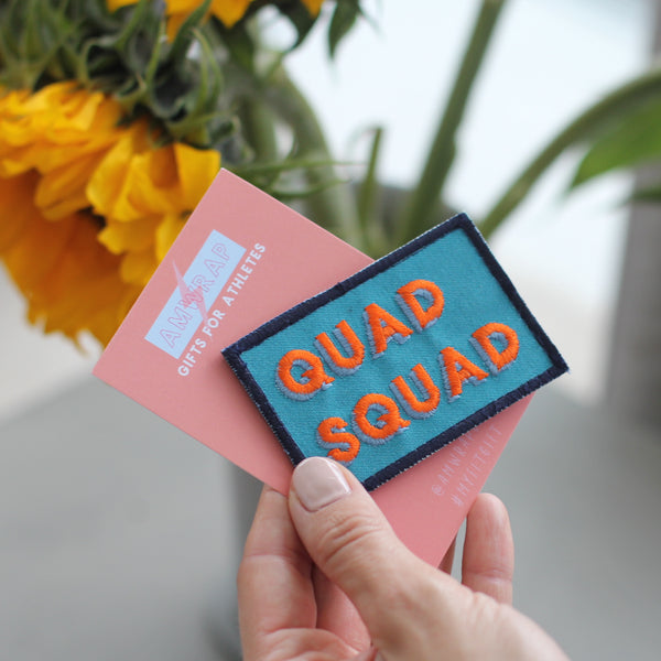 Quad Squad Embroidered Velcro Patch