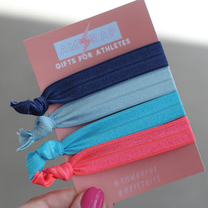 Hair Ties - Set of 4 (Tropical)