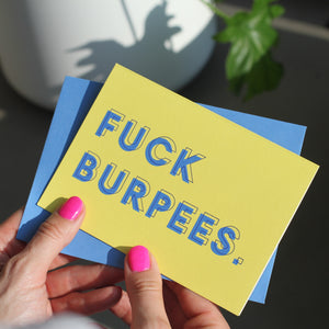 Fuck Burpees Greetings Card