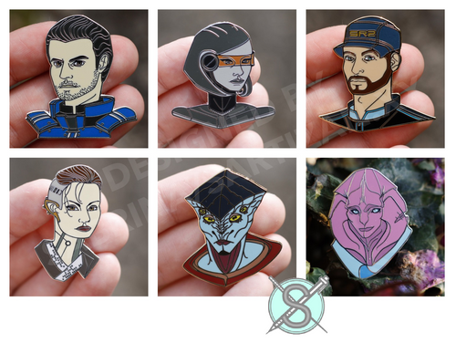 Sartizan Mass Effect Hard Enamel Companions Wave 1 Pins