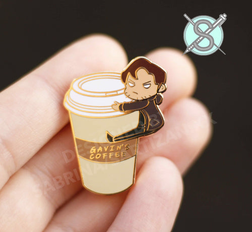 Gavin Reed Coffee Hard Enamel Pin