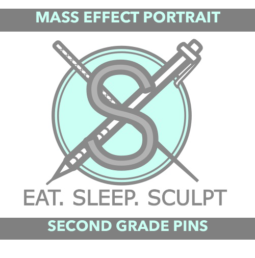 [SECONDS/B GRADE]Sartizan Mass Effect Portrait Hard Enamel Pins