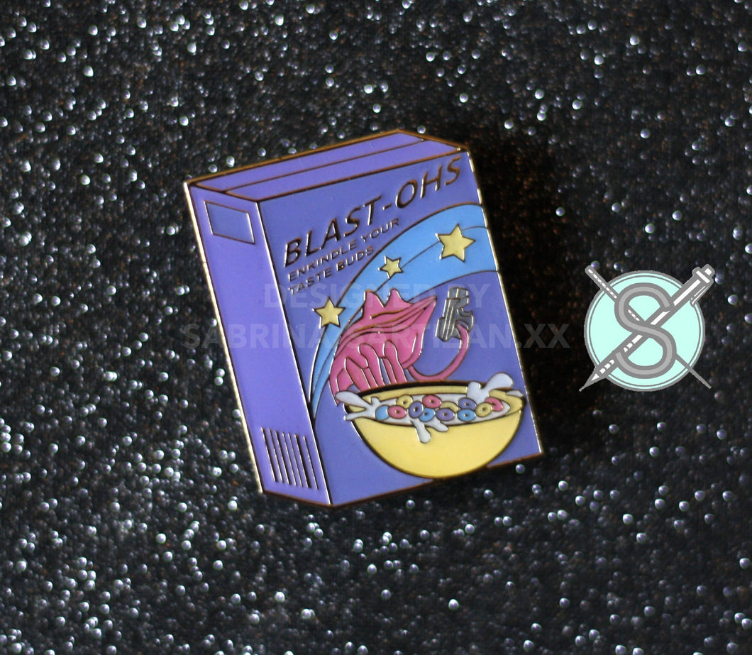 Sartizan Mass Effect Soft Enamel Blasto Cereal Pin