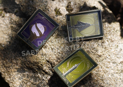 Sartizan Dragon Age Tarot Card Soft Enamel Pins