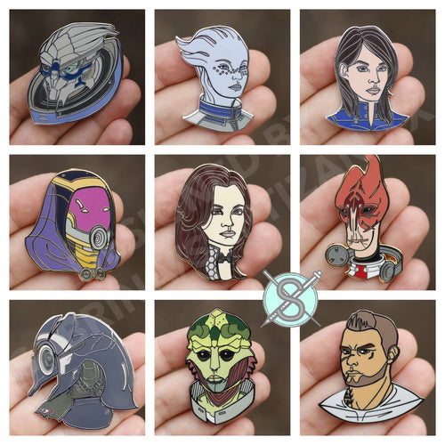 Sartizan Mass Effect Hard Enamel Companions Wave 2 Pins