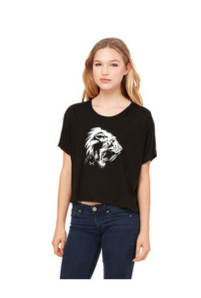 Sabertooth Crop Ladies Slouchy Shirt