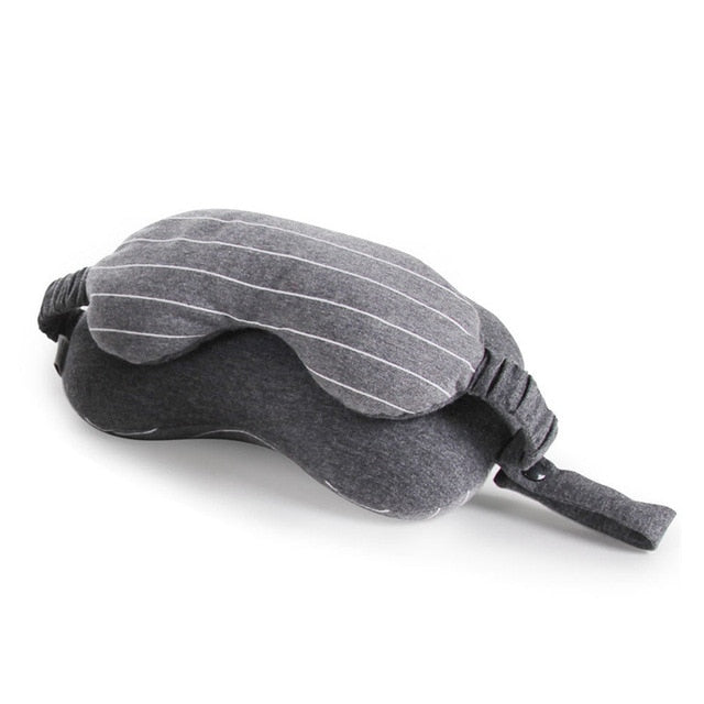 Neck Pillow With Eye Mask