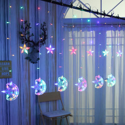 Moon and Star String LED Lights