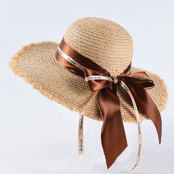 Ribbon Bow Woman Sun Hats