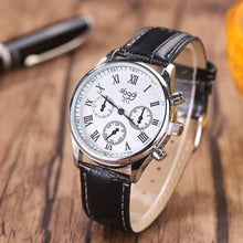 Men Generalsiness Leather Strap Quartz Watch