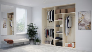 Oderno Wardrobes, Fitted Wardrobes, Sliding Wardrobes, Hamilton Wardrobes, 2 & 3 Door Interior, Hanging & Shelving, Mussel Interiors
