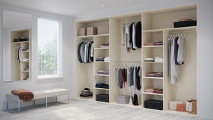 Oderno Wardrobes, Fitted Wardrobes, Sliding Wardrobes, Hamilton Wardrobes, 4 & 5 Door Interior, Hanging & Shelving, Mussel Interiors