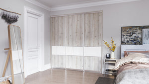 Oderno Wardrobes, Fitted Wardrobes, Sliding Wardrobes, White Mountain Larch Wardrobes
