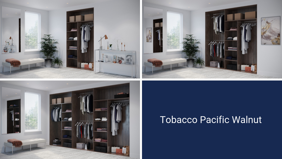 Oderno Wardrobes I Sliding Wardrobes I Fitted Wardrobes I Wardrobe Interiors I Tobacco Pacific Walnut