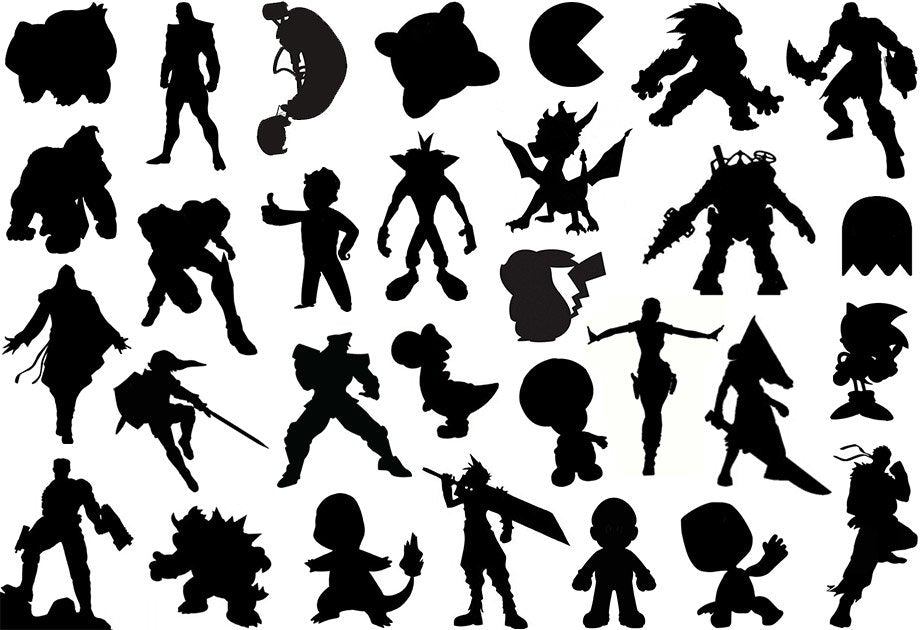 good character design distinct game character silhouette