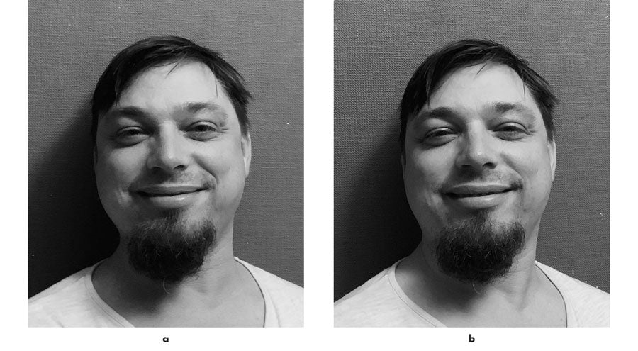 Real and fake smile compression for artists by UIdis Zarins