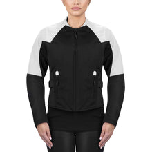 Viking Cycle Freedom Black/White Textile Motorcycle Jacket For Women