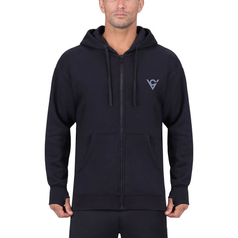 Viking Cycle Raven Motorcycle Riding Zip-Up Hoodie For Men