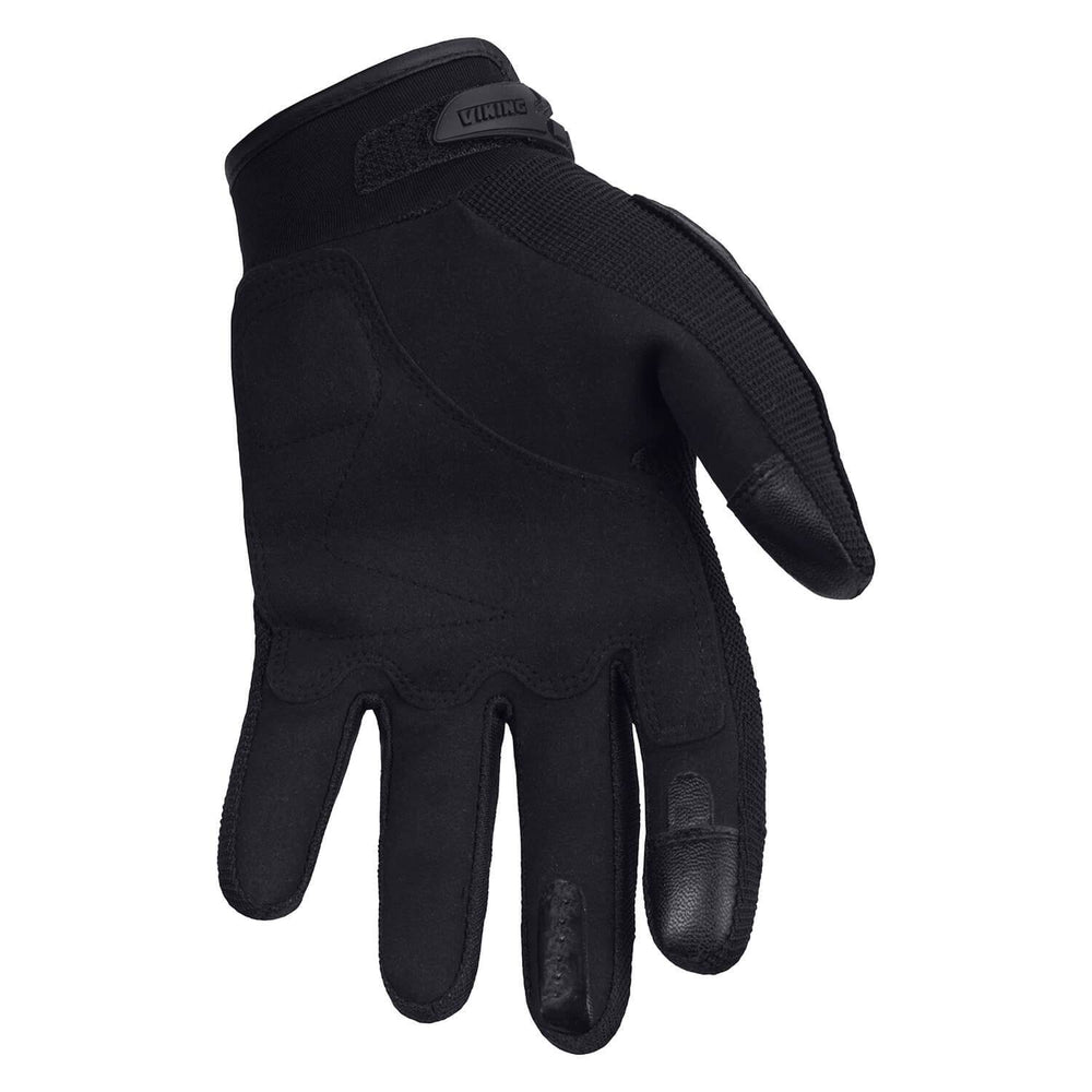 Viking Cycle Panache Riding Black Textile Motorcycle Gloves for Men
