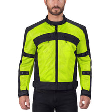 Viking Cycle Ironside Hi Viz Neon Textile Motorcycle Jacket for Men