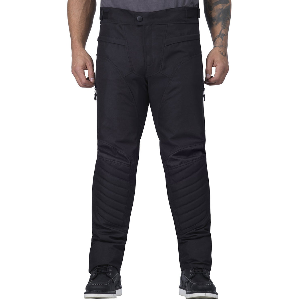 Viking Cycle Debonair Black Textile Motorcycle Pants for Men