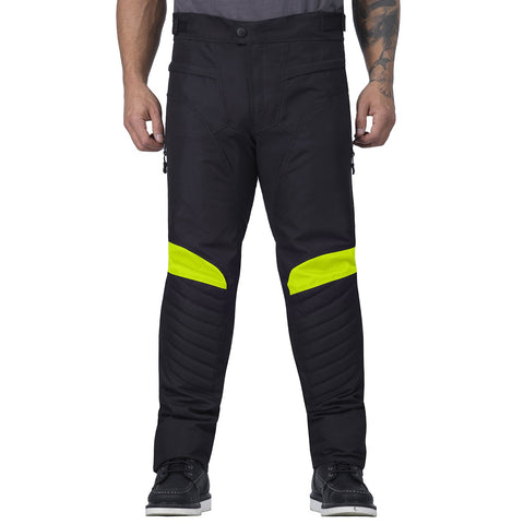 Viking Cycle Debonair Hi Viz Neon Textile Motorcycle Pants for Men