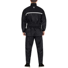 Viking Cycle Two Piece Black Textile Motorcycle Rain Suit for Men