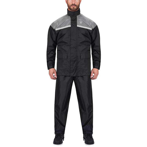 Viking Cycle Two Piece Gray Textile Motorcycle Rain Suit for Men