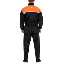 Viking Cycle Two Piece Orange Textile Motorcycle Rain Suit for Men