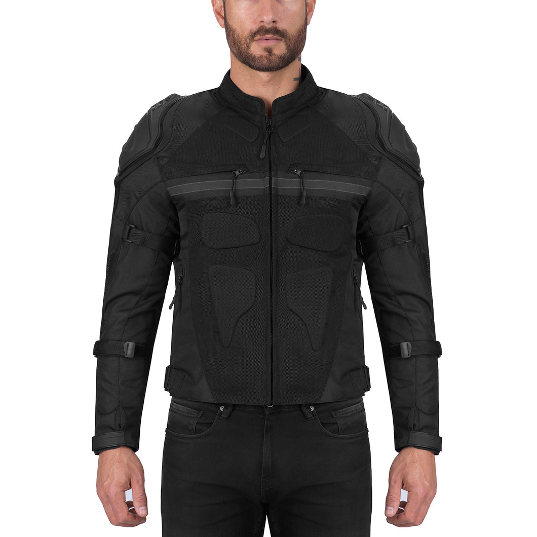 Viking Cycle Stealth Textile Motorcycle Jacket for Men