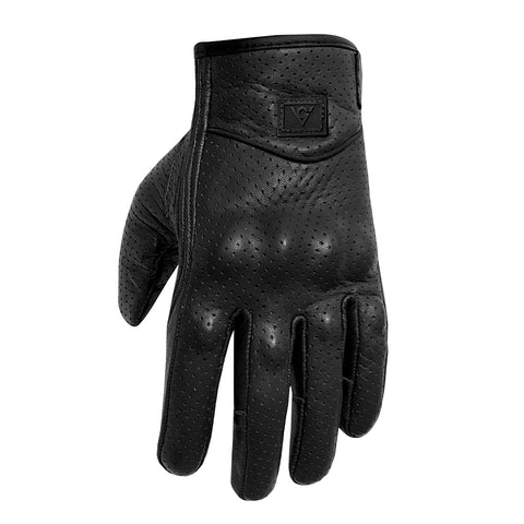 Viking Cycle Perforated Motorcycle Leather Gloves for Men
