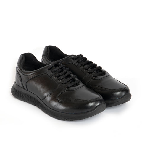 AUSTIN Unisex Leather Lace Up Shoes - Black
