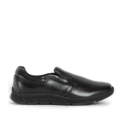 RICHARD Unisex Leather Slip On Shoes - Black