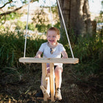 solid wooden kids swing airplane