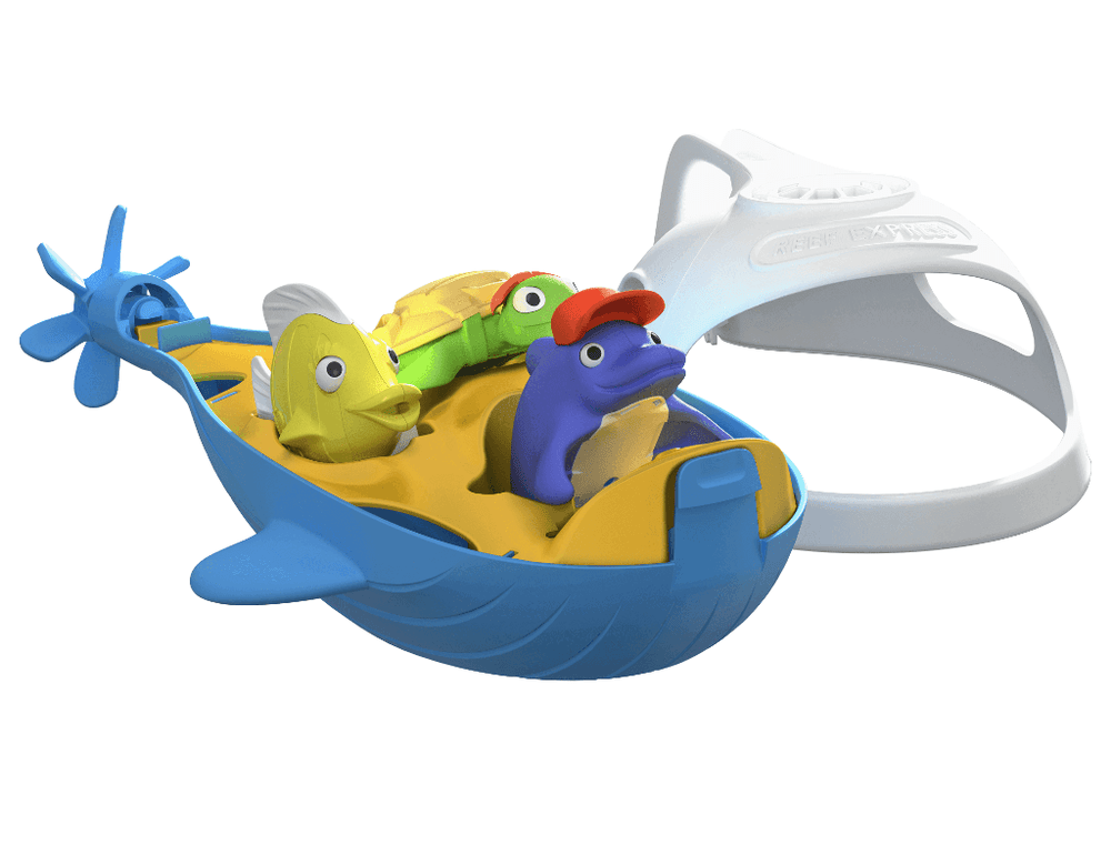 recycled bath toy set submarine