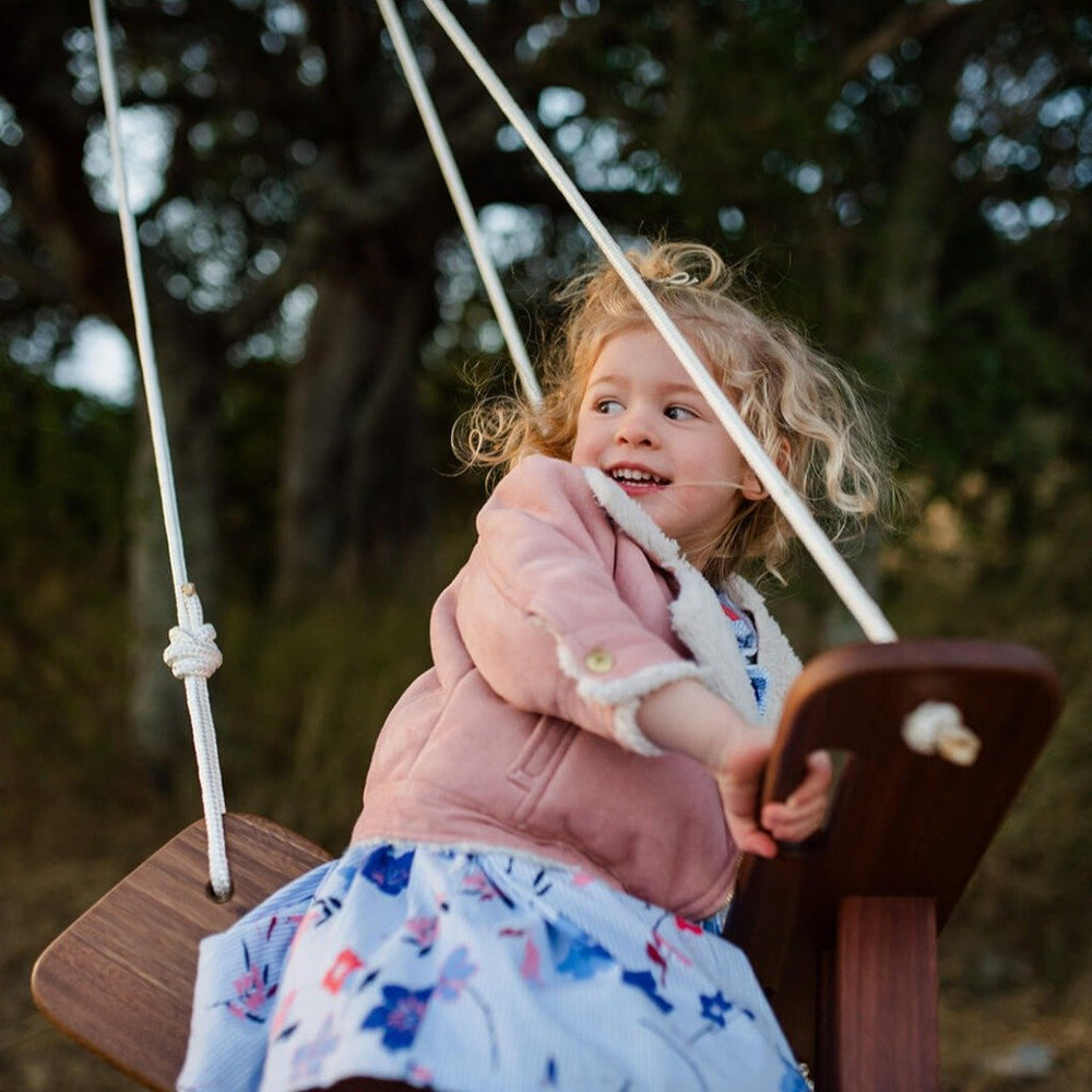 Wooden Garden Swing for Toddlers, Airplane, Windy Hill Adventures
