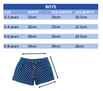 boys board shorts size guide