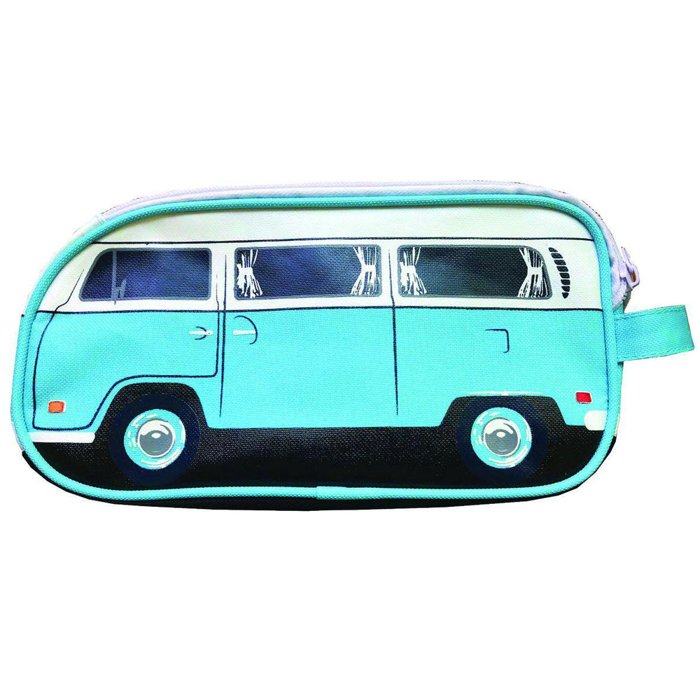 """Hippy Days"" Camper Van Toiletry Bag, Light Blue"