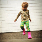 kids' lightweight gumboots pink colour