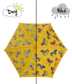 Kids' Colour Changing Umbrella, Carousel, Yellow