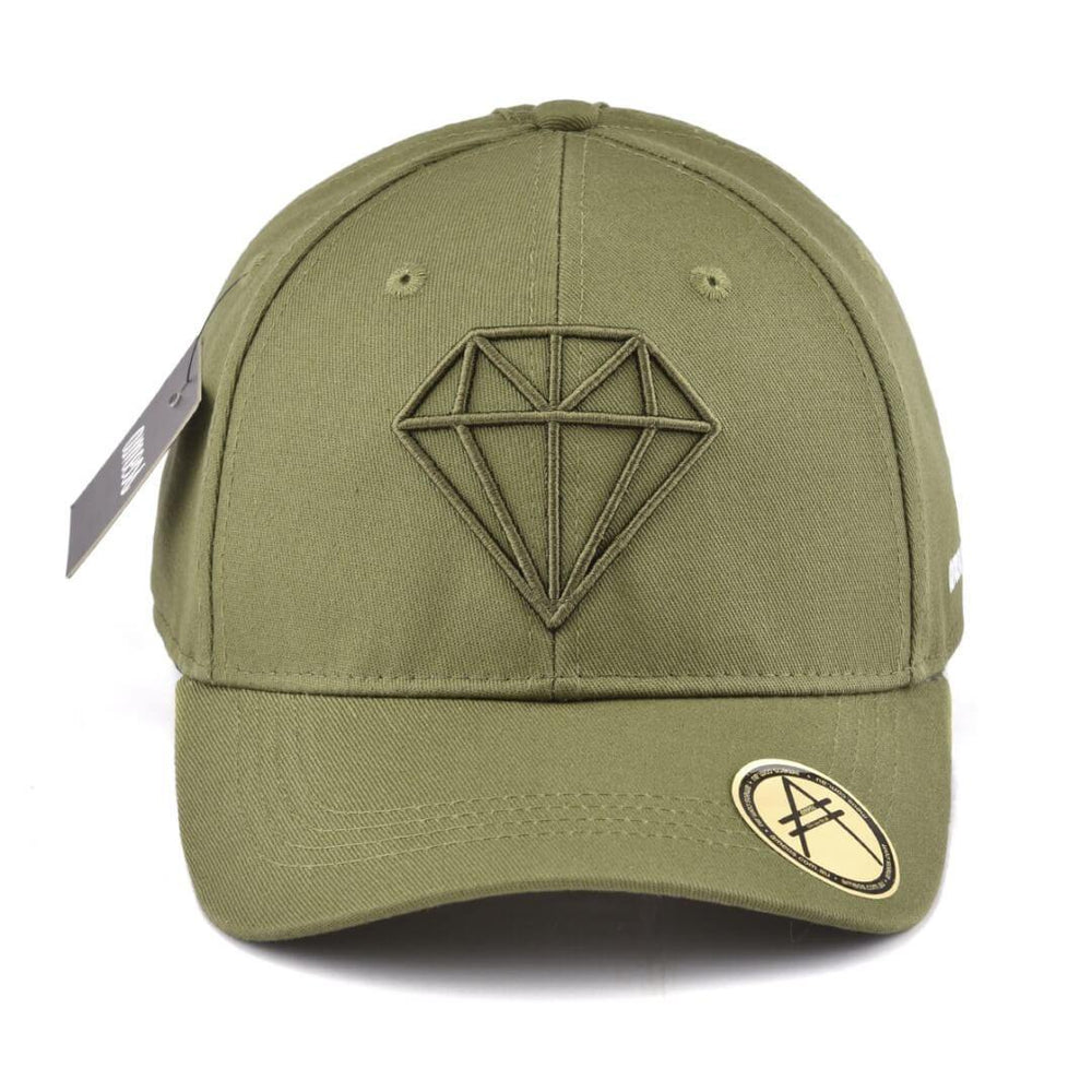 Ponytail Split Cap, Diamond, Olive, Ameos - Upper Notch Club