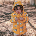 Kids' Colour Changing Raincoat, Carousel, Yellow