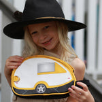 travel wash bag yellow camper van inspired toiletry bag