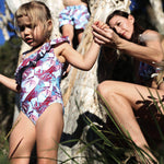 Matching Swimwear, Girls' One Piece Swimsuit, Birds of Paradise
