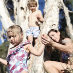 family matching swimwear floral