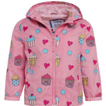 kids' colour changing raincoat pink cupcake design holly and beau Australia