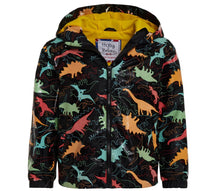 Kids' Colour Changing Raincoat, Dinosaur, Black