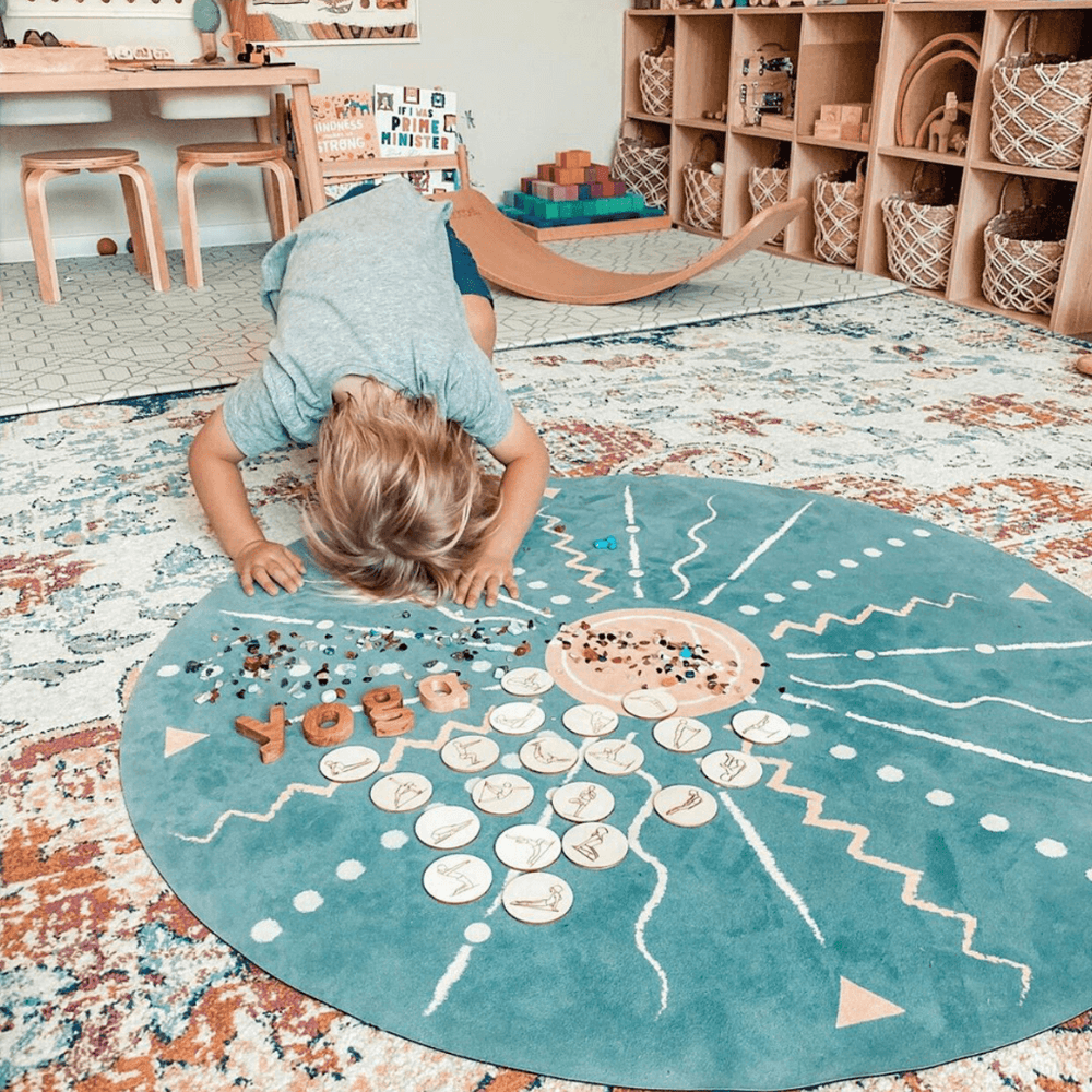 Kids' Yoga Mat, Round, Omya Spot - Upper Notch Club